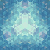 Winter retro triangle pattern. Retro raster illustration — Stock Photo