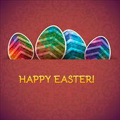 Easter eggs vector background. Decorative eggs background — Stock Vector