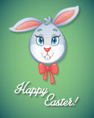 Easter Bunny card in vector format. — Stock Vector