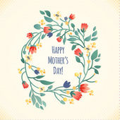 Happy Mother's Day greeting Card — Stock Vector