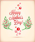 Happy Mother's Day greeting Card — Stockvector