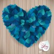Abstract blue heart leaf vector background makes fun of you — Stock Vector #48096263