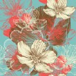 Seamless floral background with flowers apple, hand drawing, vector. — 图库矢量图片 #12079620