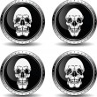 Icon with skull, vector illustration. - Stock Vector