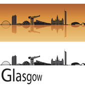 Glasgow skyline — Stockvector