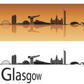 格拉斯哥的天际线 — 图库矢量图片