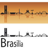 Brasilia skyline — Stock Vector