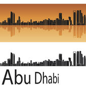 Abu Dhabi skyline in orange background — Stock Vector