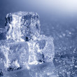 Ice cubes with copyspace — Stock Photo