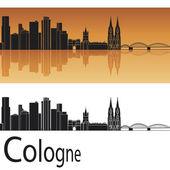 Cologne skyline — Stock Vector