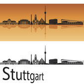 Stuttgart skyline — Stock Vector