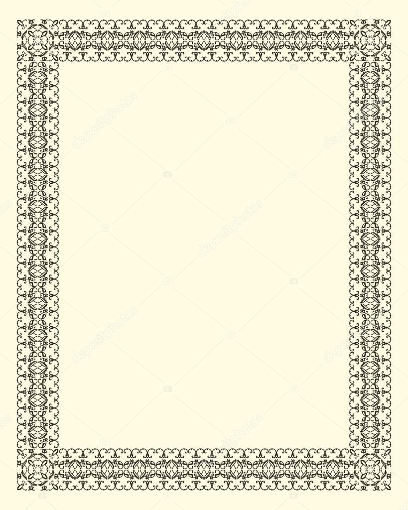 Ornamental  frame vintage in editable vector file — Stock Vector #16869425