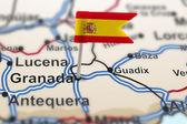 Perno con bandiera della Spagna a granada — Foto Stock