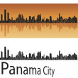 Panama City skyline - Stock Vector