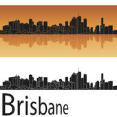 Brisbane skyline — Stock Vector