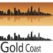 Gold Coast skyline - Stock Vector