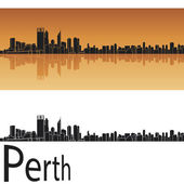 Perth skyline — Stock Vector