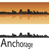 Anchorage skyline — Stock Vector