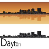 Dayton skyline — Stock Vector