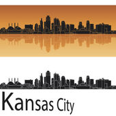 Kansas City skyline — Stock Vector