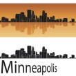 Minneapolis skyline — Stock Vector #21252647