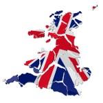 United Kingdom map cracked — Stock Photo #21616013