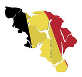 Belgium map cracked — Stock Photo