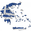 Greece map cracked — Stock Photo