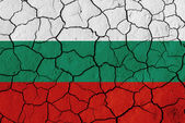 Flag of Bulgaria over cracked background — Stok fotoğraf