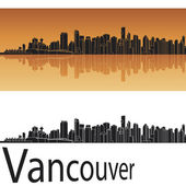 Vancouver skyline — Stock Vector