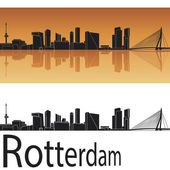 Rotterdam skyline — Stock Vector