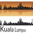 Kuala Lumpur skyline - Image vectorielle