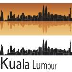 Kuala Lumpur skyline — Stock Vector