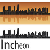 Incheon skyline — Stock Vector