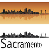 Sacramento skyline — Stock Vector