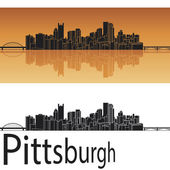 Pittsburgh skyline — Stock Vector