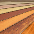 Wooden laminated construction planks - Stock Photo