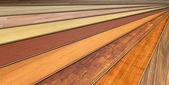 Wooden laminated construction planks — Stock Photo