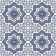 Arabesque seamless pattern in blue and grey — Stock Vector #23639089