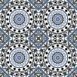 Arabesque seamless pattern in blue — Stock Vector #23698067