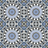 Arabesque seamless pattern in blue — Stock Vector