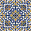 Classic vintage seamless pattern in blue and yellow — Stock Vector #23729399