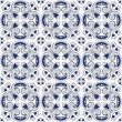 Classic vintage seamless pattern in blue and gray — Stock Vector
