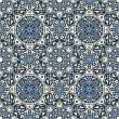 Arabesque seamless pattern in blue and white — Stock Vector #23823765