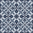 Arabesque seamless pattern in blue and white — Stock Vector #23920143