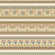 Set of five decorative borders ornamental — Stock vektor