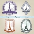 Vintage stamp Paris — Stock Vector