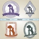 Vintage stamp Madrid — Stock Vector #28269343