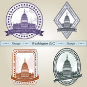 Vintage stamp Washington DC — Stock Vector
