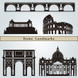Rome landmarks and monuments — Stock Vector #28975943